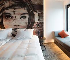 Building A Headboard Make An Artistic Headboard For Your Bedroom By Painting A Mural On