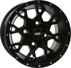black wheels itp hurricane alloy aluminum 17x7 matte black wheels just for