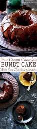 sour chocolate bundt cake with rich chocolate ganache