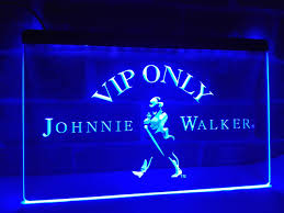 online shop la438 vip only johnnie walker whiskey led neon light