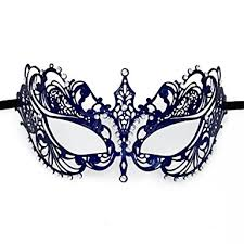metal masquerade mask beyondmasquerade navy blue metal masquerade mask clothing