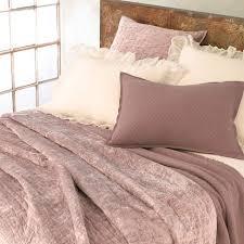 district17 matte velvet dusty plum quilt quilts u0026 coverlets