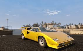 yellow lamborghini countach 1988 lamborghini countach qv add on replace gta5 mods com