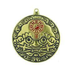 tiger yin yang metal bagua mirror
