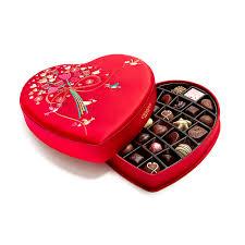 heart chocolate s day fabric heart chocolate gift box 37 pc godiva