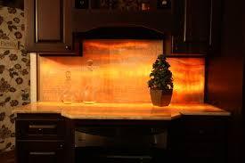 Lit Onyx Backsplash Eclectic Kitchen Cleveland By - Onyx backsplash