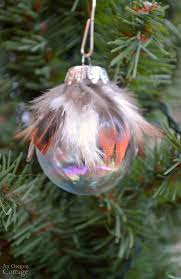 simple feather glass ornament diy