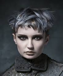 funky hairstyle for silver hair 2626 best hairstyles images on pinterest pixie hairstyles edgy