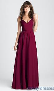 dresses for prom burgundy classic prom dress with v back