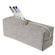 pencil cases x pet recycled block pencil grey officeworks