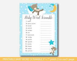 teddy baby shower teddy baby shower word scramble teddy baby word