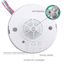 long range motion detector light 360 degree long range motion sensor bs036b view motion sensor