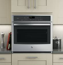 ge pt7050sfss 30 inch single electric wall oven with true