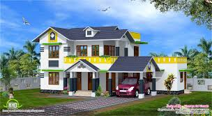 kerala model sloping roof house home design floor plans dma