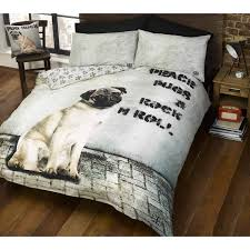 pug design duvet cover sets in single and double kids u0026