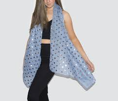 blue u0026 gold heart scarf heart scarves view our scarf