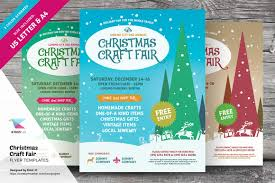 christmas craft fair flyer templates flyer templates creative