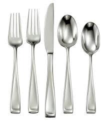 oneida moda 65 piece stainless steel flatware set dillards
