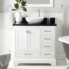 36 vessel sink vanity 36 quen vessel sink vanity white bathroom