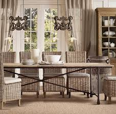 dining room attractive wicker dining room chairs indoor for rustic
