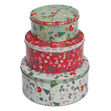 christmas tins set 3 christmas carnival tins dotcomgiftshop tins boxes