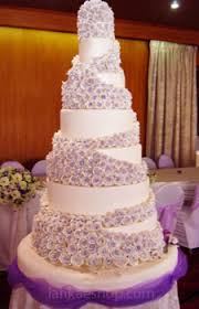 wedding cake structures 7 tier roses wedding cake structure purple theme sri lanka