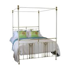 cream metal four poster bed u2013 m4p17