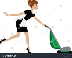 Vaccumming Clip Art Maid Vacuuming Stock Illustration 476157472