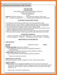How To Format A Job Resume by Pattern Of Resume For Job Sop Proposal