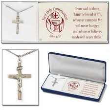 boys communion gifts communion silver crucifix necklace for boys 32 5646