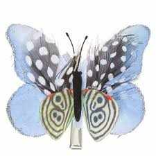 butterfly hair clip blue and feathers butterfly hair clip s us