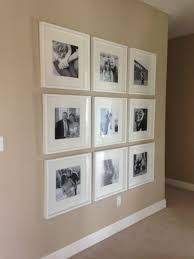 Ikea Wall Art by Black And White Photo Wall With Ikea Frames Chronological Order