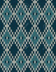 knit woolen seamless jacquard ornament pattern fabric blue