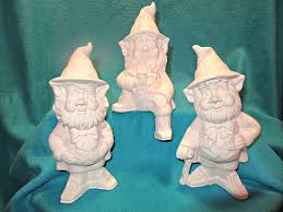 gnome collection paint your own ceramic figurines