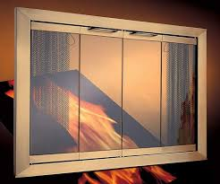 Contemporary Fireplace Doors by 3 Sided Fireplace Doors Alpinedoora Fireplace Doors And Blower