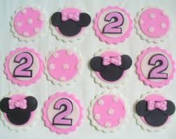 12 mini mickey head ears silhouette edible fondant cake