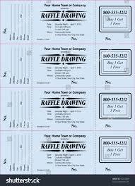 raffle ticket 3part vector template stock vector 52212409