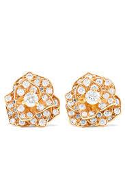 piaget earrings piaget 18 karat gold diamond earrings net a porter