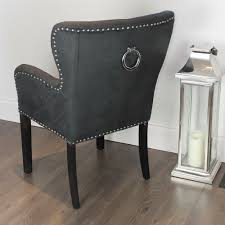 Leather Dining Chair With Arms Chair Furniture Black Dining Chairs Singular Images Design Leather