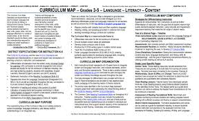literacy language arts prek 12 elementary curriculum map