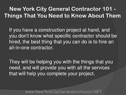 101 Things To Do With In New York New York City General Contractor 101 Things That You Need To A