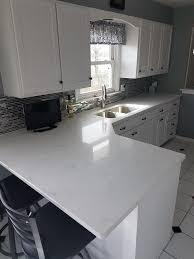 are white quartz countertops in style lg viatera willow white quartz countertops and wall caps
