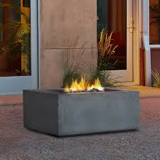 real flame baltic square propane fire table