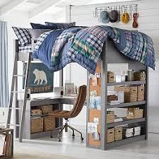 Bunk Bed With Loft Teen Loft Beds U0026 Bunk Beds Pbteen