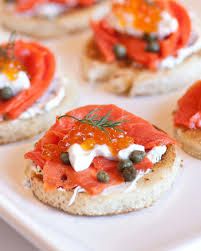 cuisine canapé caviar smoked salmon canapes tatyanas everyday food