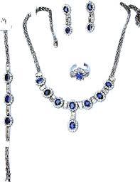 blue sapphire stone necklace images Gemstone jewelry sets ceylon sri lanka rubies blue sapphires jpg