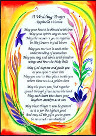 wedding blessing heartful online wedding prayer original poster 5x7
