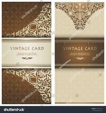 Luxury Wedding Invitation Cards Set Vintage Cards Save Date Card Stock Vector 219537742 Shutterstock