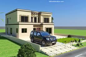 3d front elevation com 1 kanal house 50 u0027 x 90 u0027 minimum covered