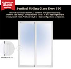 impact resistant sliding glass doors sentinel 2 door 2 track sliding glass door